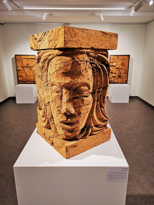 Peat sculpture - Portrait of SELMA, 2019, by Atis Luguzs